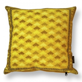 Sofa pillow Yellow velvet cushion cover GOLDEN YELLOW