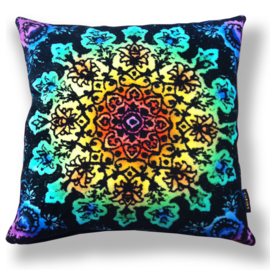 Sofa pillow Spectrum-black velvet cover SPECTRUM FLOWER