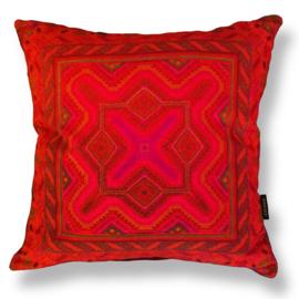 Sofa pillow Red velvet cushion cover RED TEMPTATION