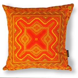 Sofa pillow Orange velvet cushion cover CARROT