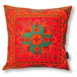 Sofa pillow Red velvet cushion cover AFTERGLOW
