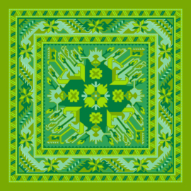 Grønn fløyel putetrekk LIME