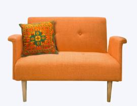 Oranje fluwelen kussenhoes POMPOEN