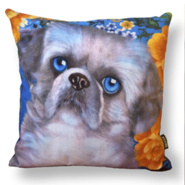 Dog throw pillow SHIZI velvet pillow case