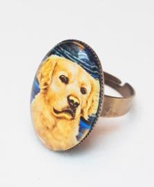 Cabochon ring dog DIORA