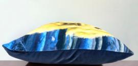 Cuscino decorativo Cane GOLDILOCKS  fodera in giallo blu