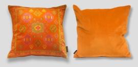 Oranje fluwelen kussenhoes MANDARIJN