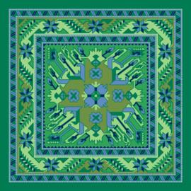 Grønn fløyel putetrekk VÅR2