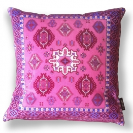Sofa pillow Pink velvet cushion cover PEONY