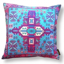Sofa pillow Blue velvet cushion cover AZURE