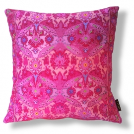 Sofa pillow Pink velvet cushion cover CHERRY BLOSSOM