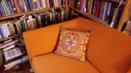Sierkussen Oranje fluwelen kussenhoes HOLLAND