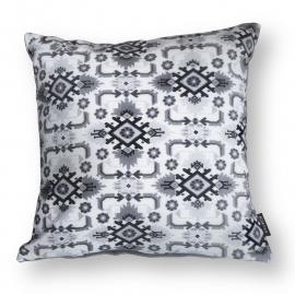 Sofa pillow Black-grey-white velvet cushion cover AVOCET