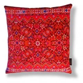 Sofa pillow Red velvet cushion cover STRAWBERRY