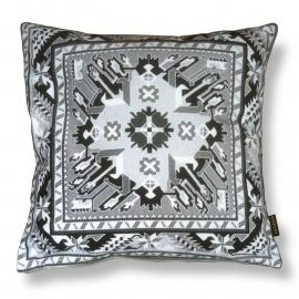 Sofa pillow Black-grey-white velvet cushion cover GREY SLATE