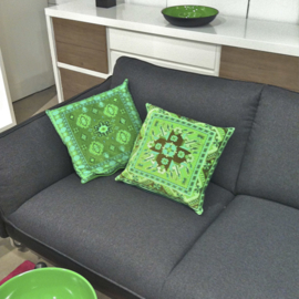 Sofa pillow Green velvet cushion cover SPRING