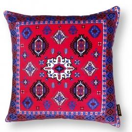 Sofa pillow Red velvet cushion cover RUBY