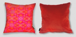 Cuscino Rosso in velluto fodera per cuscino SCARLATTO