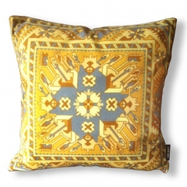 Sofa pillow Yellow velvet cushion cover CURRY
