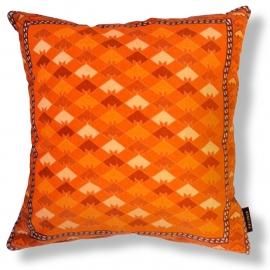Cojín sofá Naranja funda cojín terciopelo PEZ DE COLORES