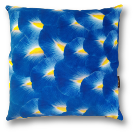 Sofa pillow Blue velvet cushion cover IRIS