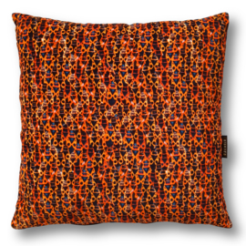 Sofa pillow Orange velvet cushion cover FIRE BUGS