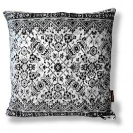 Sofa pillow Black-grey-white velvet cushion cover LACE