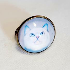 Cabochon ring cat ADONIS