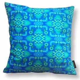 Sofa pillow Blue velvet cushion cover OCEAN