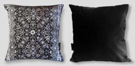 Sofa pillow Black-grey-white velvet cushion cover KING SNAKE