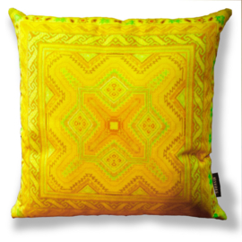Sofa pillow Yellow velvet cushion cover DAFFODIL