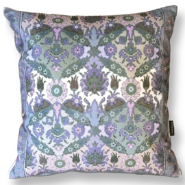 Sofa pillow Taupe velvet cushion LAMB'S EAR