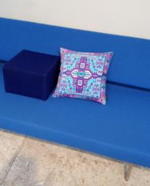 Sofa pillow Blue velvet cushion cover AZURE