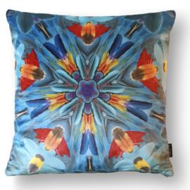 Cushion cover velvet HARLEQUIN MACAW