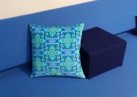 Sofa pillow Blue velvet cushion cover OCEAN