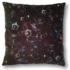 Sofa pillow  Black velvet cushion cover PETUNIA BLACK VELVET