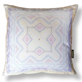 Sofa pillow Off White velvet cushion MOTHER OF PEARL