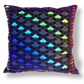 Sofa pillow Spectrum-black velvet cover JEWEL BEETLE