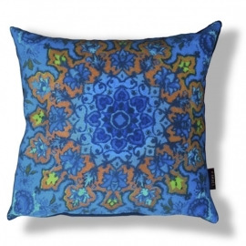 Sofa pillow Blue velvet cushion cover INDIGO