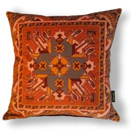 Sofa pillow Orange velvet cushion cover TERRACOTA