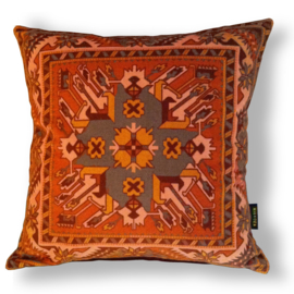 Cojín sofá Naranja funda cojín terciopelo TERRACOTA