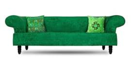 Grün samt Kissenhülle FRÜHLING