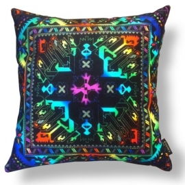 Sofa pillow Spectrum-black velvet cover BLACK OPAL