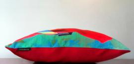 Sierkussen BACO rood fluwelen kussenhoes