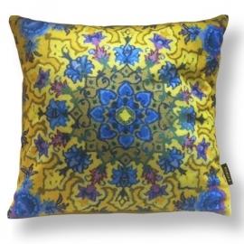 Sofa pillow Yellow velvet cushion cover BUTTERCUP