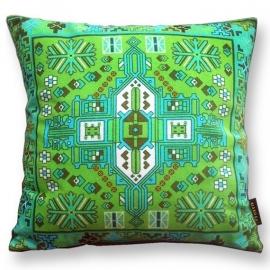 Cuscino Verde in velluto fodera per cuscino TORMALINA