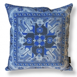 Sofa pillow Blue velvet cushion cover LAPIS LAZULI