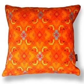 Sofa pillow Orange velvet cushion cover BREAKING DAWN