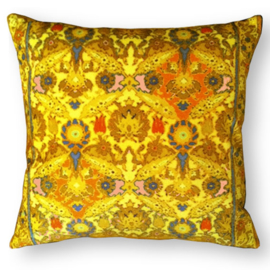 Sofa pillow Yellow velvet cushion cover MUSTARD
