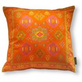 Sofa pillow Orange velvet cushion cover TANGERINE